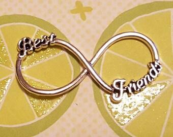 Infinity Charm - 20 pcs. - Best Friends Infinity - Infinity Symbol - Silver Infinity Charm- Figure 8 Charm - Infinity Bracelet Charm