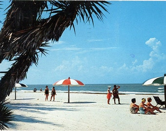 Madeira Beach Gulf Coast Holiday Isles Florida Vintage Postcard 1971