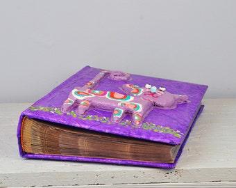 Kids Album with cat, Large Baby Photo Album, Pockets photo album, Kids first Birthday Gift, toddlers Photo Album