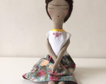 Frida Kahlo Handmade Rag Doll