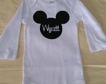 Personalized Mickey one piece t-shirt