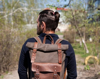 Sac à dos, toile de sac à dos en toile sac à dos en toile, toile de sac à dos homme, collègue sac à dos, sac à dos pour ordinateur portable, sac de toile cirée, Mens