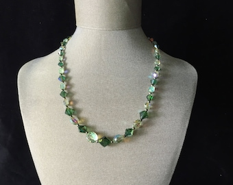 Vintage Green Crystal necklace