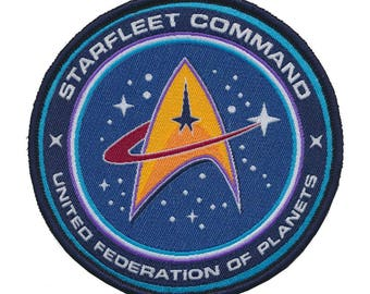 Star trek united federation of planets woven patch