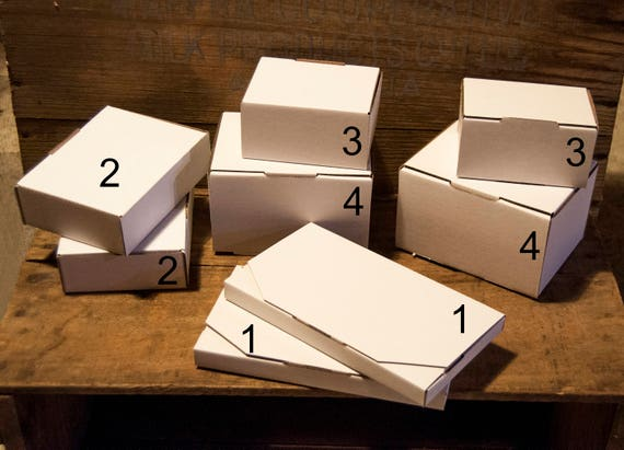 Small cardboard gift boxes White boxes Packaging Supplies
