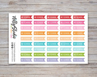 No School Stickers | College Planner Stickers | The Nifty Studio [212]