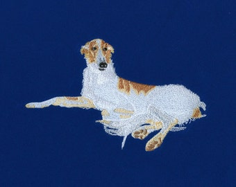 Relaxed Dog Cute Embroidery Design