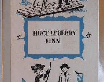 Adventures of Huckleberry Finn Mark Twain Junior Deluxe Editions 1954 Vintage Book Young Adult American Classic Novel