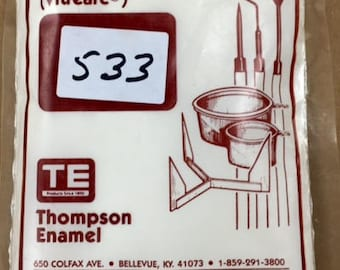Thompson Enamel, White Liquid Enamel, Sgraffito Enamel, Enameling Supplies, Kiln Enamel, Torch Enamel, Painting with Fire Studio