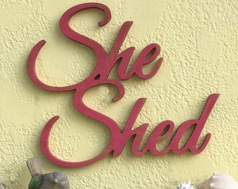 She shed sign, she shed plaque, sign for women, shed signs,garden signs,wood she shed signs,shabby chic signs,signs for private spaces,15x18