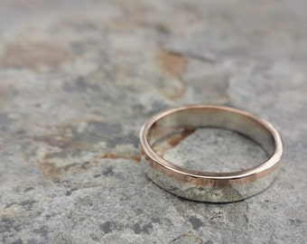 Silver and Gold Female Wedding Band