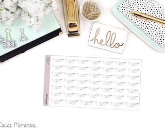 DOODLE PAPER PLANE Paper Planner Stickers