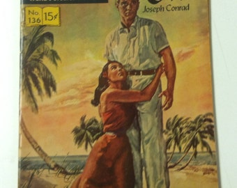 Vintage 1950's 1957 Classics Illustrated No. 135 15 Cents Lord Jim by Joseph Conrad Comic Book Graphic Novel