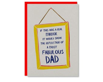 Fabulous Dad Fathers Day card | Birthday card for Dad | Father's Day card