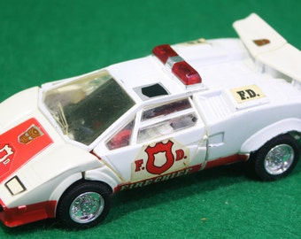 Vintage 1980-1982  Takara Japan G1 Transformers RED ALERT Lamborghini Fire Chief Instructs Specs