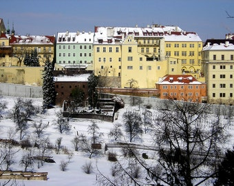 Snow in Prague 5x7 Photograph