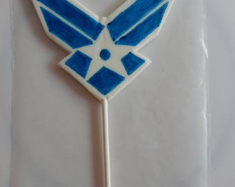 Fondant Air Force Emblem Cake Topper