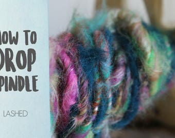 SPINDLING Lashed Art Yarn - How to Spin Art Yarn on a Drop Spindle - One HD Video Tutorial from How to Spin Yarn