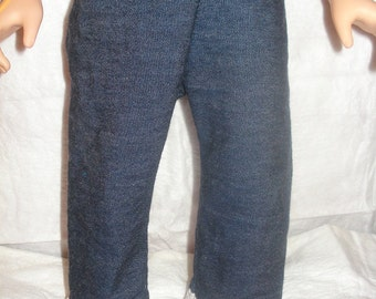 Handmade blue Denim jeans with lace trim for 18 inch Dolls - ag131