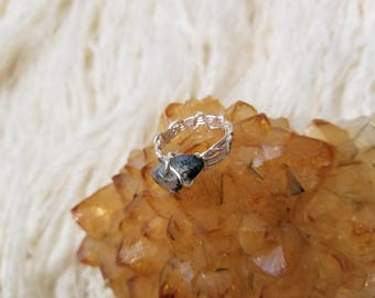 Wrapped Wire and Stone Ring