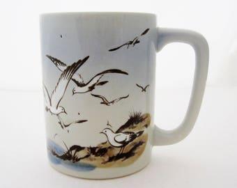 Otagiri SEAGULLS SEA BIRDS Coffee Mug Ocean Seashore