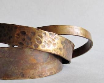 Bronze Cuff Set - Stacking Bronze Cuffs - Three Bronze Cuff Set - 19th Anniversary Gift - Mother's Day Gift