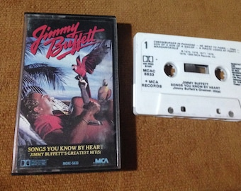 Jimmy Buffett - Songs You Know By Heart Greatest Hits audio cassette tape