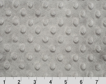 Steel Gray Dot Minky Fabric - Shannon Fabrics minky dot by the yard