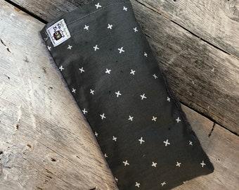 Magic bag , X on dark grey, warm bag, magic bag , baby hot bag