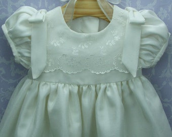 Silk Christening gown, Rose by Okika