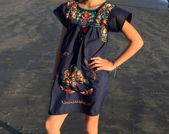 Girls embroidered dress, mexican dress,