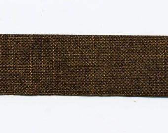 Chocolate brown linen C56 look by the yard Ribbon
