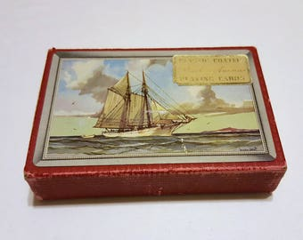 Park Avenue Plastic Coated Playing Cards / Ships Nautical Playing Cards