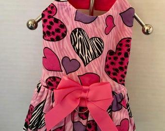 XS Heart Harness Dress Chihuahua+Maltese+Yorkie+Small Dog-Mark Down