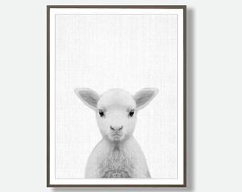 Sheep Printable, Lamb Wall Art, Nursery sheep, Kids Art, Sheep Decor, Lamb Printable, Black And White, Lamb Art, Printable Lamb, Printable