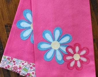 Kitchen Towel, Spring Towel, Applique Towel, Hostess Gift
