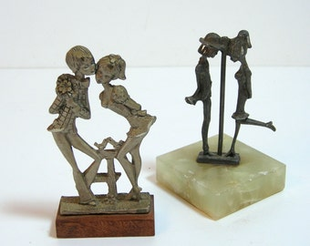 Italian Pewter Figurines, Pelto, Lovers