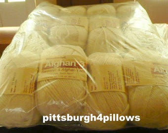 New Listing -  Wonder Art -  Afghan 3 - Sweater & Afghan Yarn - 1.75 ozs - Price Is For 1 - 4 Ply - 100% Acrylic - 65 - Natural