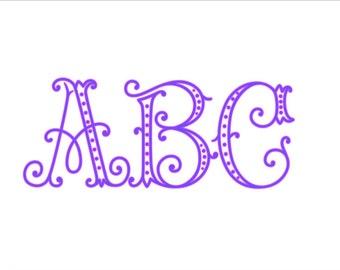 Arabesque Monogram Alphabet font SVG DXF Cut Files Instant Download