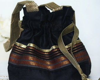 Silk Drawstring Pouch