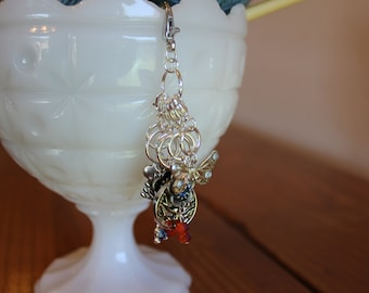 Life is Beautiful Stitch Markers for Knitting and Crochet - Set of 6