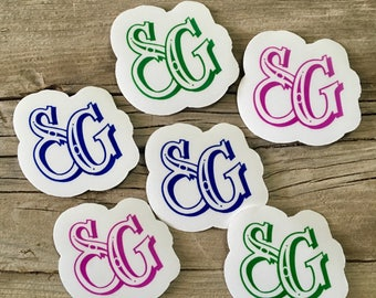 100 shaped cut out logo printed stickers, product labels, logo decals, shaped stickers, vinyl decals, bumper stckers