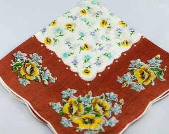 Vintage Hankie  for Collecting, Framing, Sewing, Quilting R-19