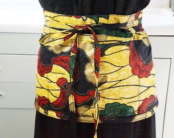 Funky Apron/Abstract Apron/Plus Size Apron/Boho Waitress Apron/Boho Apron/Plus Size/Retro/Apron With Pockets/Craft Apron/Waitress Apron