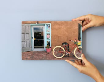 New Mexico Bicycle, Photo on 29x19 cm MDF (Medium-density fibreboard), Wall Art, Home Decor, Limited Edition Photography Prints