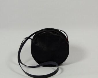 Lise - black leather purse