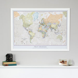 World pinboard map etsy personalised classic world map pinboard gift vintage personalised gift for him gumiabroncs Choice Image