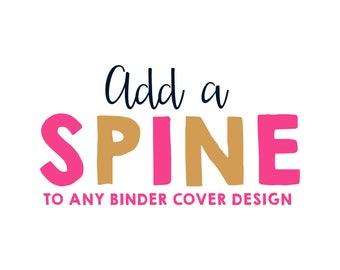 Binder Cover, Printable Binder Cover, Binder Cover Spine, Add-On