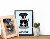 Custom pet portrait, cust...