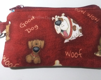 Dogs, red keyring zip pouch, gadget,toiletry bag, purse, id13409237, portemonnaie, moneybag, cosmetic pad case, cute, kawaii, hund, k9